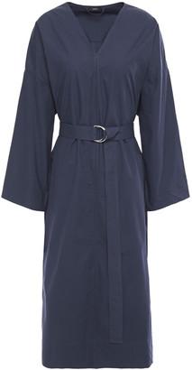 Joseph Etta Belted Cotton-poplin Midi Dress