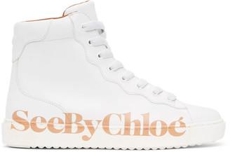 See by Chloe White Essie High-Top Sneakers
