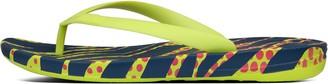 FitFlop iQUSHION Mens Zebra-Print Ergonomic Flip-Flops