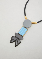 Marni antique silver resin necklace