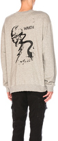RtA Crewneck Sweatshirt in Gray.