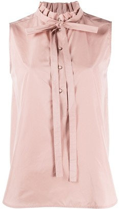 No.21 high ruffle neck blouse