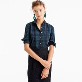 J.Crew Club-collar perfect shirt in Black Watch plaid