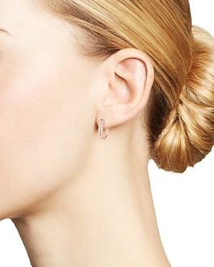 Bloomingdale's Diamond Double-Row Huggie Hoop Earrings in 14K Rose Gold, 0.50 ct. tw. - 100% Exclusive
