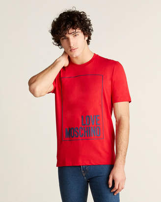 Love Moschino Rectangle Logo Tee