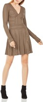 BCBGMAXAZRIA Kinley Striped Mesh Dress