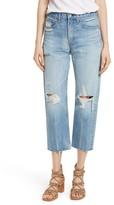 Rag & Bone Women's High Waist Crop Straight Leg Jeans
