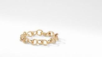David Yurman Davidyurman Cable Collectibles Oval Link Charm Bracelet In 18K Gold