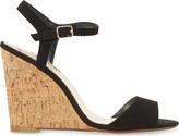 Dune Montecarlo suede cork-effect wedge sandals