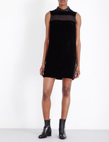 Rag & Bone Danni high neck velvet georgette dress