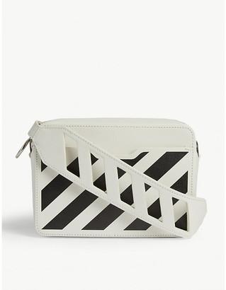 Off-White Off White Diagonal Stripe Leather Cross-Body Bag