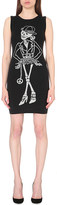 Moschino Skeleton-intarsia wool mini dress