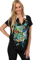 Ingear Short Sleeve Shirt Flower Print