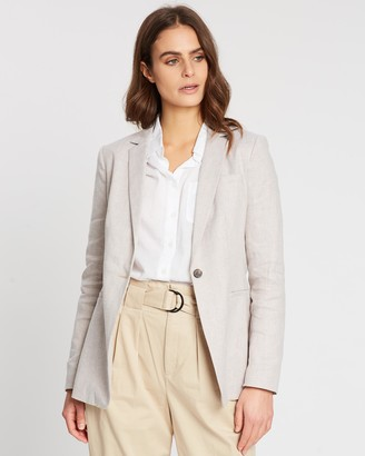 Banana Republic Long & Lean Fit Linen-Cotton Blazer