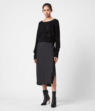 AllSaints Rosetta Tinsel 2-In-1 Dress