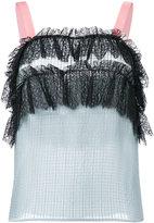 Philosophy Di Lorenzo Serafini - lace detail sleeveless top - women - Silk/Polyamide/Polyester - 38