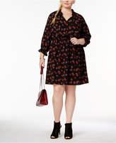Love Squared Trendy Plus Size Peasant Shirtdress