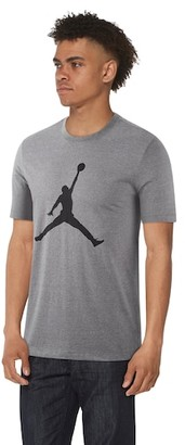 Jordan Jumpman Crew T-Shirt - Carbon Heather / Black