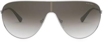 Prada 42MM Mirrored Aviator Sunglasses