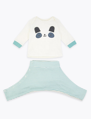 Marks and Spencer Hip Dysplasia Panda Top & Bottom Outfit