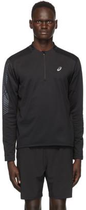 Asics Black Icon Winter Half-Zip Sweatshirt