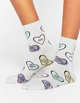 Asos Anti Valentines Heart Socks