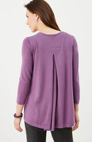 J. Jill Pleated-Back Cardigan