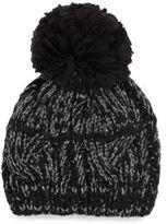 Woven Pom-Pom Hat