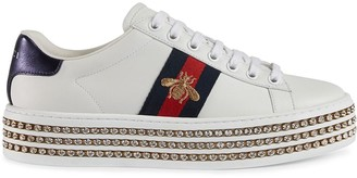 Gucci Ace sneakers with crystals