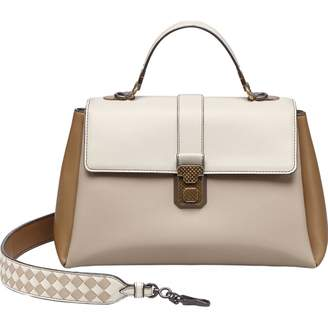 Bottega Veneta Piazza Beige Leather Handbags