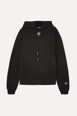 Alexander Wang Embellished Cotton-blend Jersey Hoodie - Black