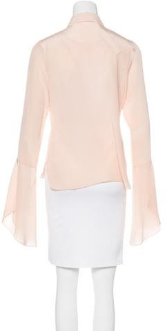 Nellie Partow Button-Up Silk Blouse w/ Tags