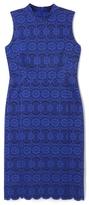 Vince Camuto Mock-neck Lace Dress