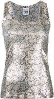 Twin-Set metallic floral vest - women - Cotton/Spandex/Elastane - XS