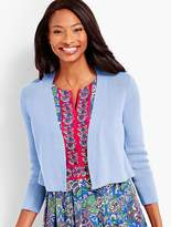 Talbots Three-Quarter-Sleeve Back Peplum Knit Shrug