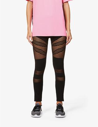 Redemption Athletix Mesh-panel stretch-woven leggings