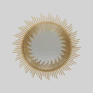 Christopher Knight Home Sunking Modern Industrial Metal Sunburst Wall Mirror Gold