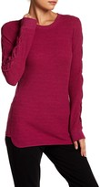 Andrew Marc Long Lace-Up Sleeve Thermal Tee