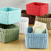 Mini Madison Storage Baskets, Sets of 2