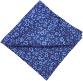 Oxford Pocket Square Silk Blue Floral