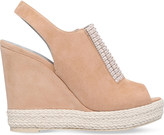 Gina Lua embellished suede wedge sandals