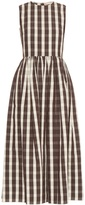 Brock Collection Gingham linen and cotton-blend dress