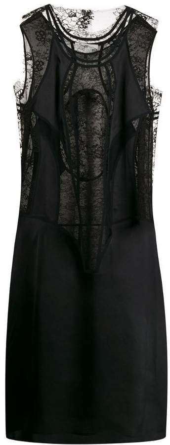 Maison Margiela lace panelled dress
