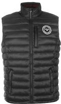 Soul Cal SoulCal Mens Micro Gilet Sleeveless Jacket Chin Guard Lightweight Zip Full