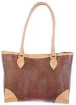 Etro Leather-Trimmed Paisley Bag