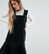 Reclaimed Vintage Denim Dress With Frayed Edges