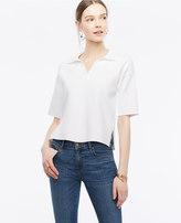 Ann Taylor Short Sleeve Polo Sweater