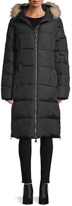 Pajar Fox Fur-Trim Hooded Puffer Coat