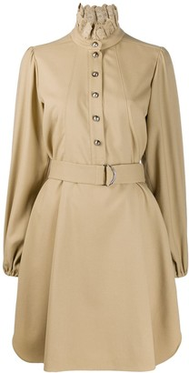 Chloé Embroidered Ruff-Collar Dress