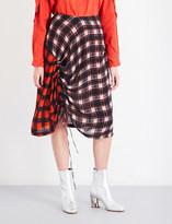 Preen Line Vivian check-print crepe skirt